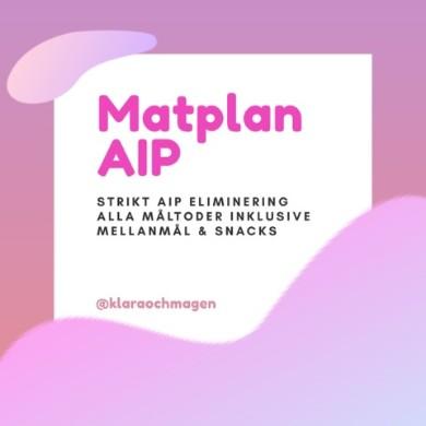 Veckoplaner för en månad strikt AIP
