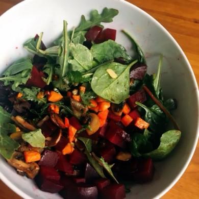 Varm sallad med rödbetor – AIP, paleo